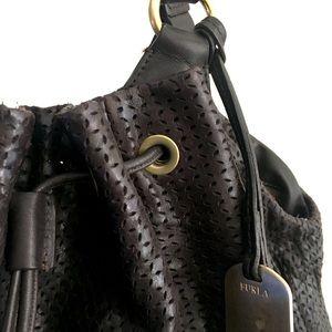 Brown leather Furla bag